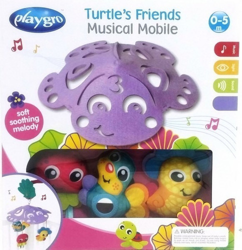 movil musical turtle´s friends mobile playgro promo navidad