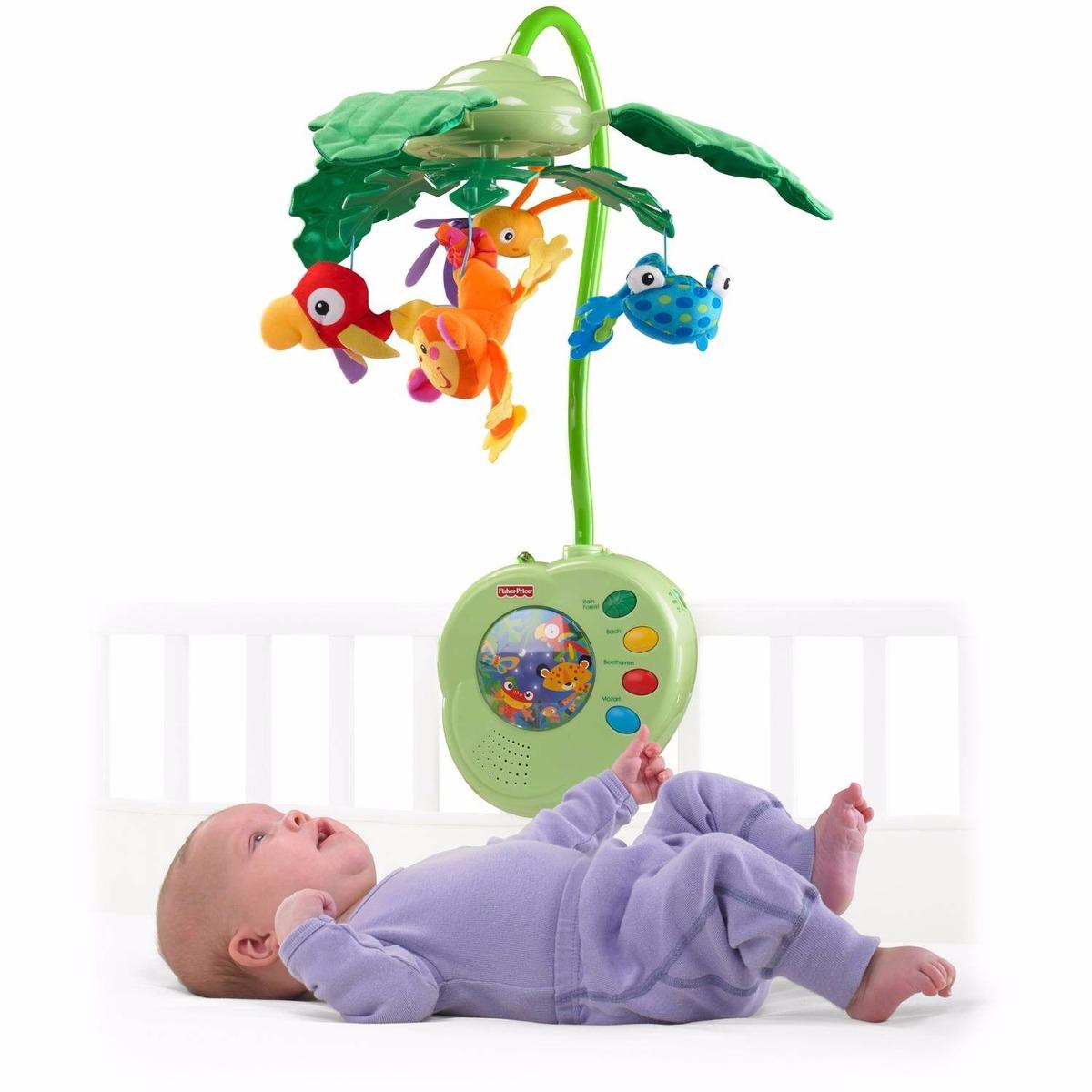 Movil para cuna bebe fisher price rainforest importado s 189 00 en mercado libre - Movil para cuna bebe ...