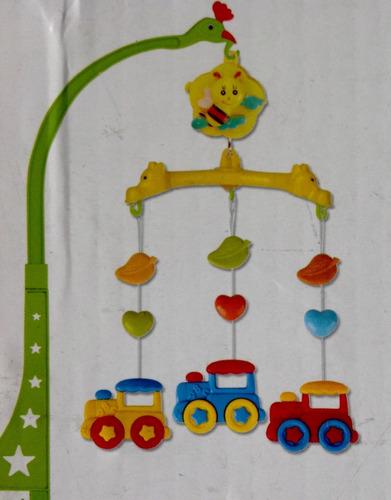 movil para el corral y cuarto del bebé con sonido de cuerda