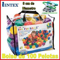 Bolso De 100 Pelotas Colores Intex 8cm Diametro Oferta