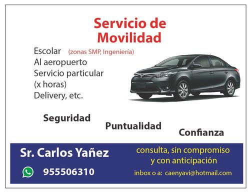 movilidad, servicio de movilidad