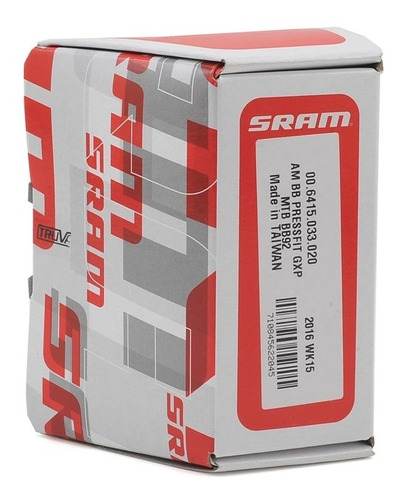 movimento central truvativ sram 24mm press fit bb92 gxp