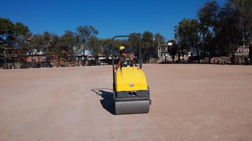 movimiento de suelo base canchas de cesped sintético forbex