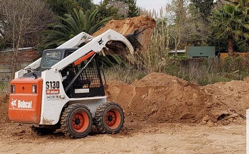 movimiento de suelos. alquiler bobcat/camión.venta de tierra