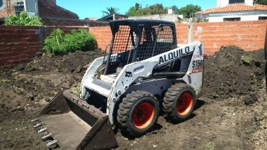 movimiento limpieza de suelo venta tierra alquiler pala