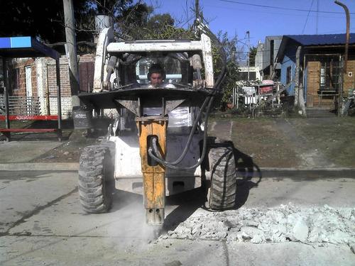 movimiento suelo alquilo martillo bobcat retropal barredora