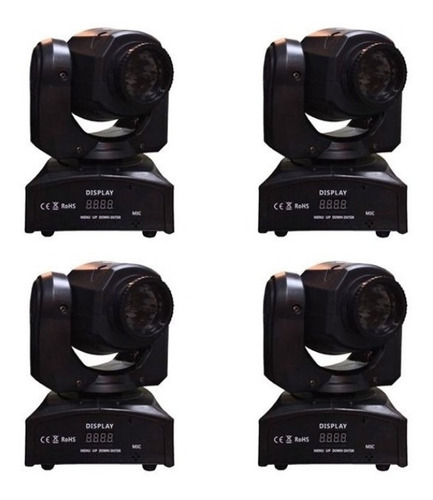 moving head spot led osram 30w gobo + disco de cor dmx loja