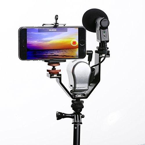 movo 3ba3 heavyduty accesorio de video soporte triple zapata