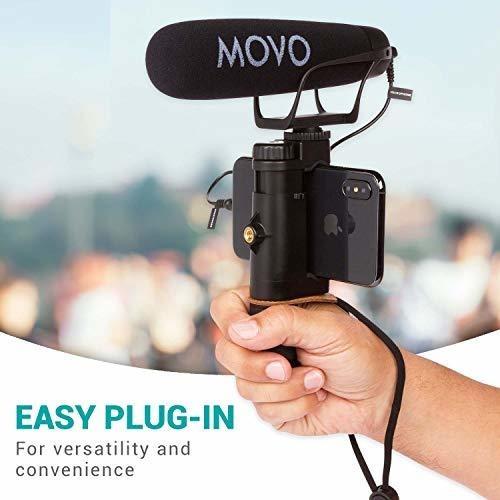 Movo vxr400 Pro Broadcast Hd Condensador Micrófono Estéreo Para Video Dslr Cámara