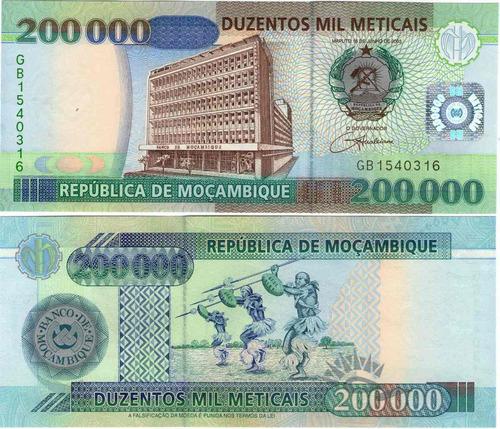 mozambique 200000 meticais 2003 unc!