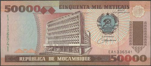 mozambique, 50000 meticais 16 jun 1993 p138
