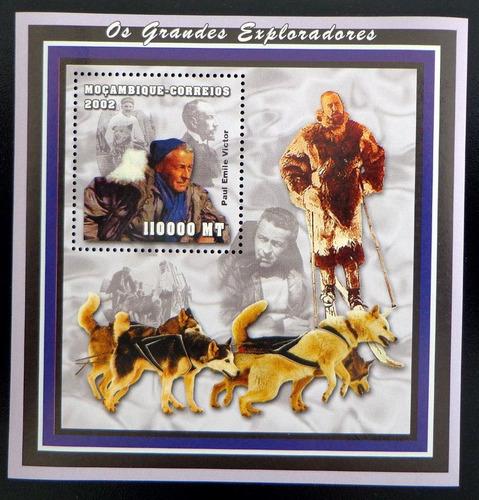 mozambique perros, bloque sc. 1640 paul victor 02 mint l8554