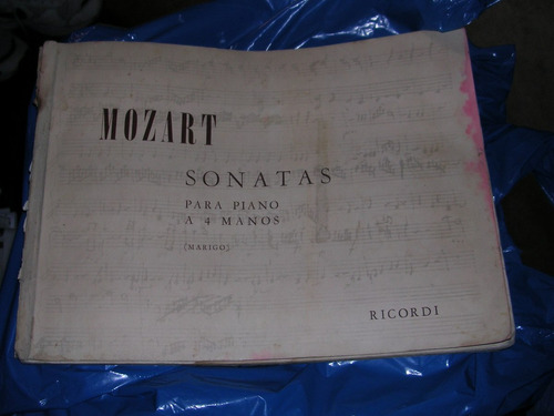 mozart - partituras de s o n a t a s para piano a 4 manos