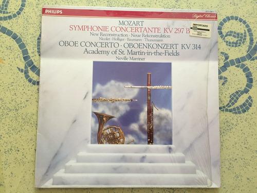 mozart, sinfonia concertante y concierto oboe  lp importado