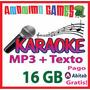 Karaoke Pendrive 16gb - Mp3 + Texto - Música Diversión Nuevo