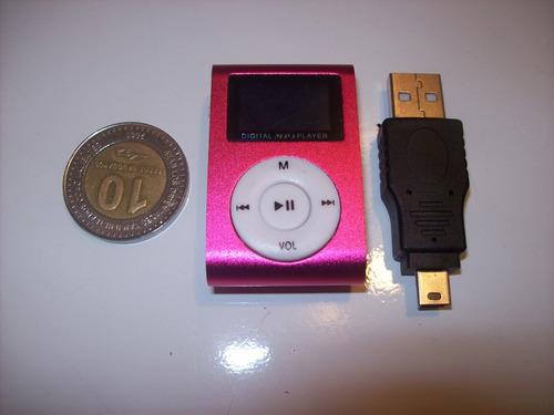mp3 audio reproductor musica display lcd hasta 32 gb c/clip