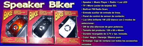 mp3 en tu bicicleta con luz led y pila recargable