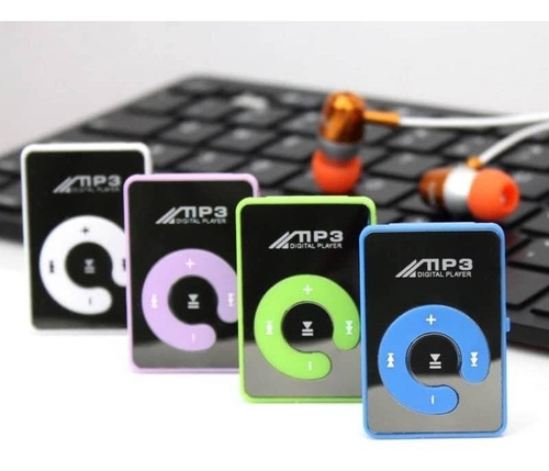 mp3 mini clip usb reproductor de música micro sd hasta 16 gb
