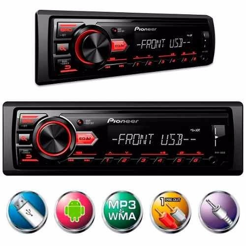 mp3 pioneer usb aux radio carro media receiver automotivo