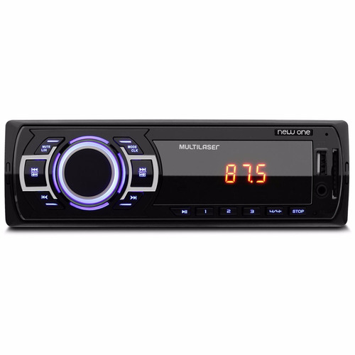 mp3 player automotivo multilaser new one p3318 1 din usb sd