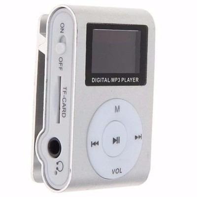 mp3 player mini shuffler, rádio fm, tela lcd entrada micro