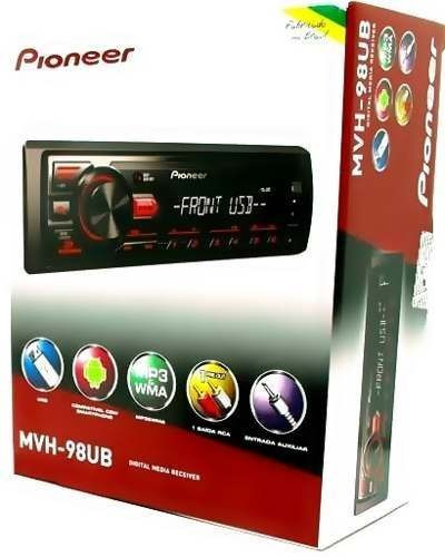 mp3 player pioneer mvh-98ub 1 din usb rca smartphone android
