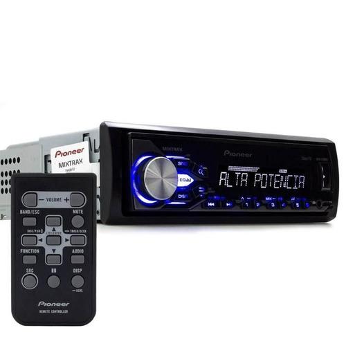 mp3 player pioneer mvh-x288fd mixtrax alta potência usb aux