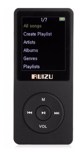 mp3 player ruizu x02 8gb rádio fm gravador de voz original