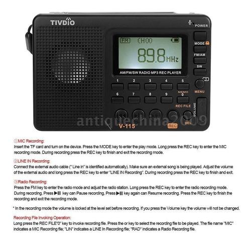 mp3 radio multibandas+grabadoravoz 2do mejor raiting 2018
