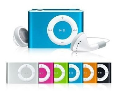 mp3 reproductor shuffle clip audifono + audifono +cable usb