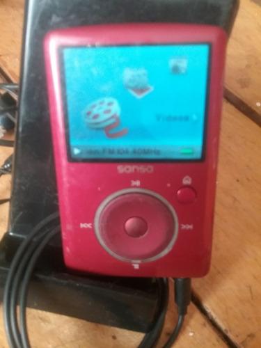 mp3 sansa 4gb amplable micro radio musica video cable audifo
