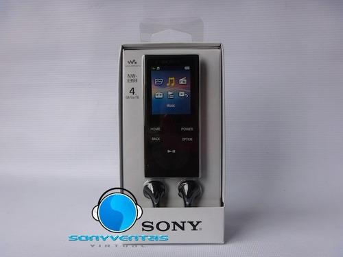 mp3 sony walkman nw-e393 4gb batería 35 horas nuevo en caja
