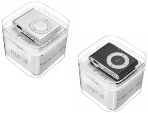 mp3 suffle metalico clip ranura microsd audifonos cable usb