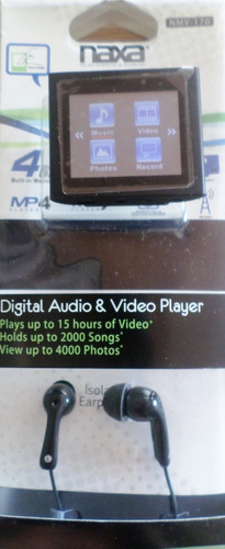 mp3/mp4 tactil naxa ranura expandible 4gb radio fm naxa