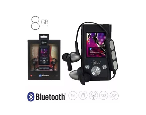 mp4 8gb bluetooth color negro