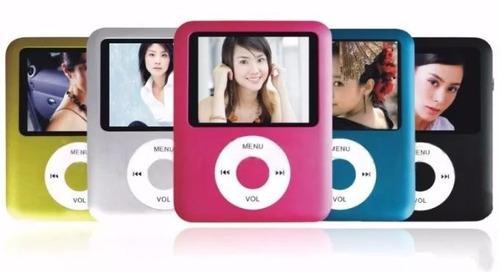 mp4 player + gravador voz + radio fm + fone + filmes