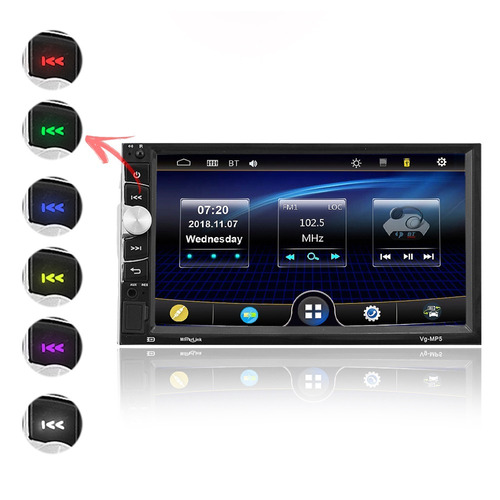 mp5 player automotivo bt usb sd - espelhamento android