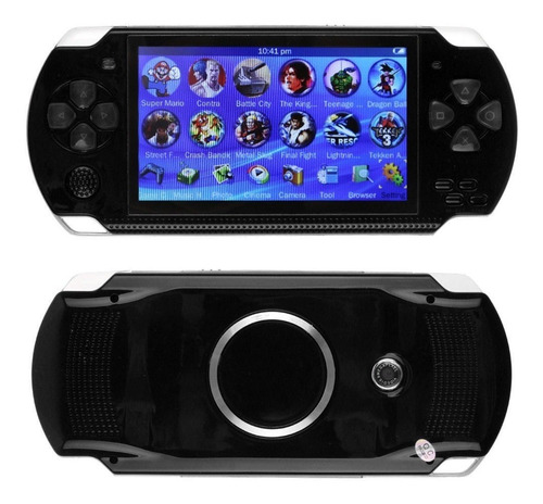 mp5 tipo psp 4gb slot hasta 32gb  juegos gamer y tv