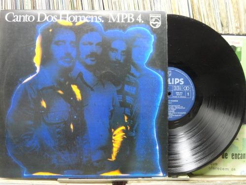 mpb-4 canto dos homens lp philips  1976 estéreo com encarte