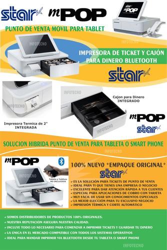 mpop punto venta movil blanco con scanner compatible izettle