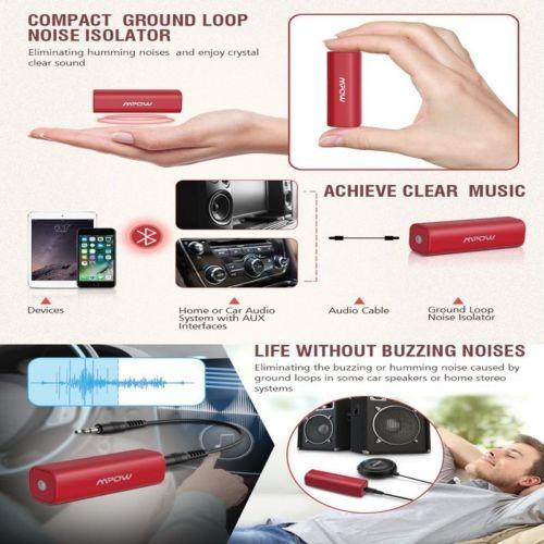 mpow aislador de ruido de bucle de tierra para car audio est