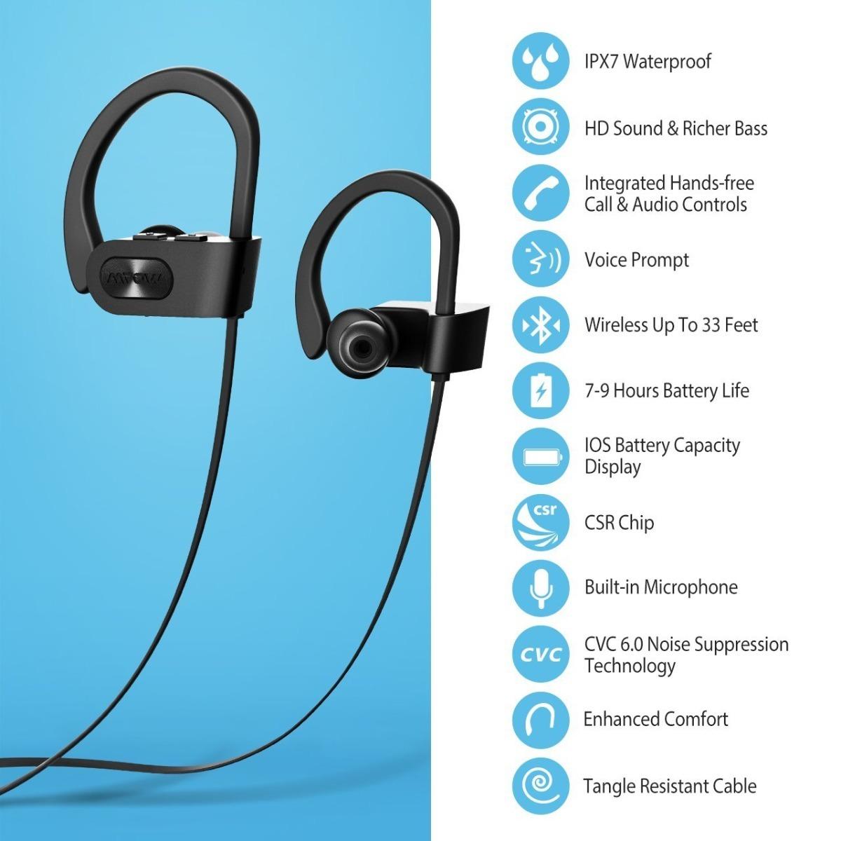 3beae9501a3 Mpow Auriculares Bluetooth Resistente Al Agua Ipx7,, Más Ric ...