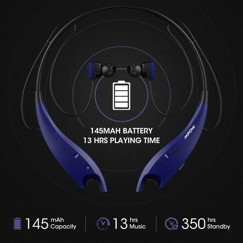 mpow jaws gen-4 bluetooth headphones wireless neckband heads