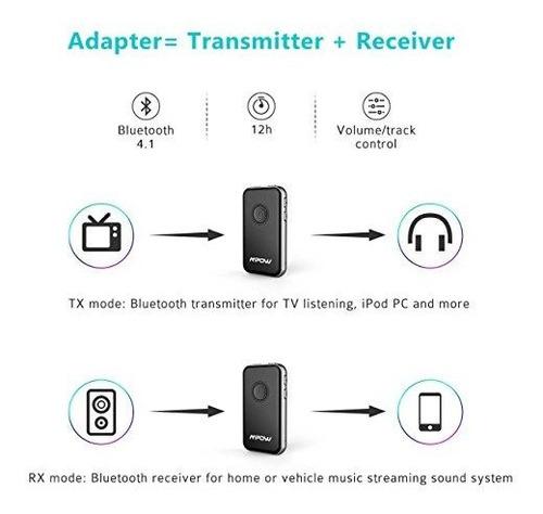 mpow receptor y transmisor bluetooth 41 2in1 adaptador de au