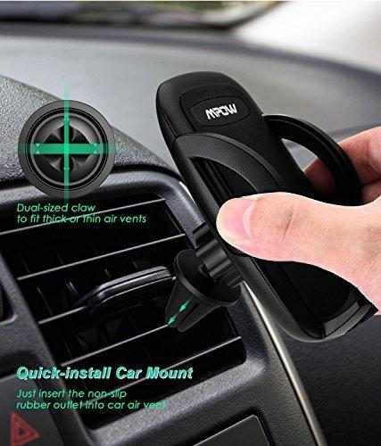 mpow teléfono celular soporte de coche para coche, negro