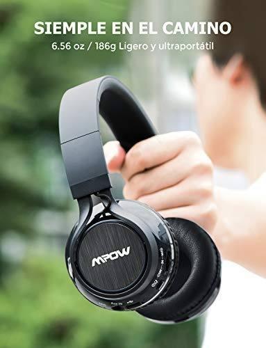 mpow thor auriculares bluetooth estéreo inalámbricos plegab