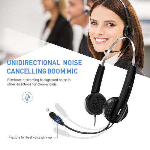 mpow usb headset, reducción de ruido de auriculares estéreo