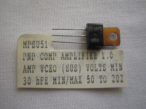 mpsu51a transistor tipo pnp. circuito integrado.  ecg 189