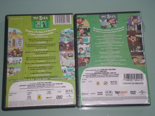 mr. bean - serie animada - 2 volumenes 1 y 8 - dvd's