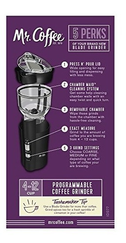 mr. coffee ids77-rb molino electrico para café espresso